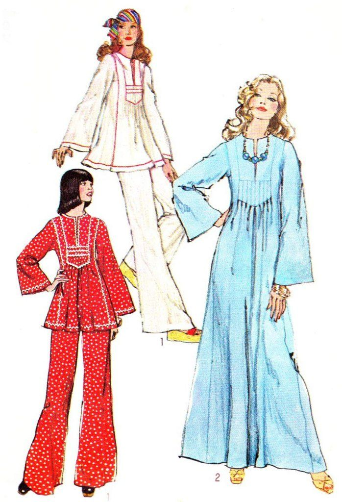hippie\'s caftan -- save this pattern for later -- 70s Vintage ...