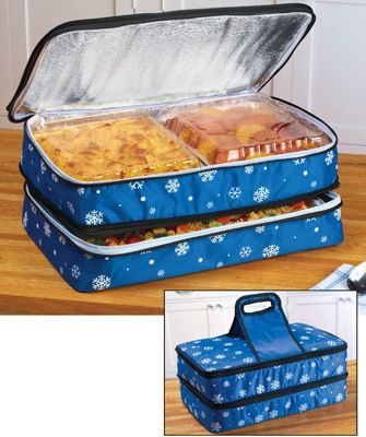 Snowflake Expandable Insulated Food Carrier