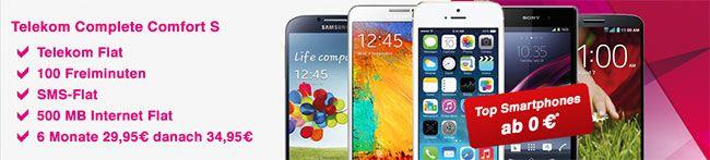 Telekom Complete Comfort S mit Top-Smartphones ab 0 EUR *Update 12.02.14* http://www.simdealz.de/telekom/telekom-complete-comfort-s-mit-top-smartphones-ab-0-eur-13kw48/
