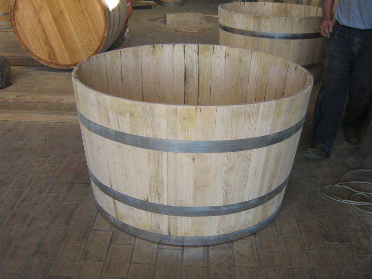 vasca mastello botte litri 500 in castagno giardino
