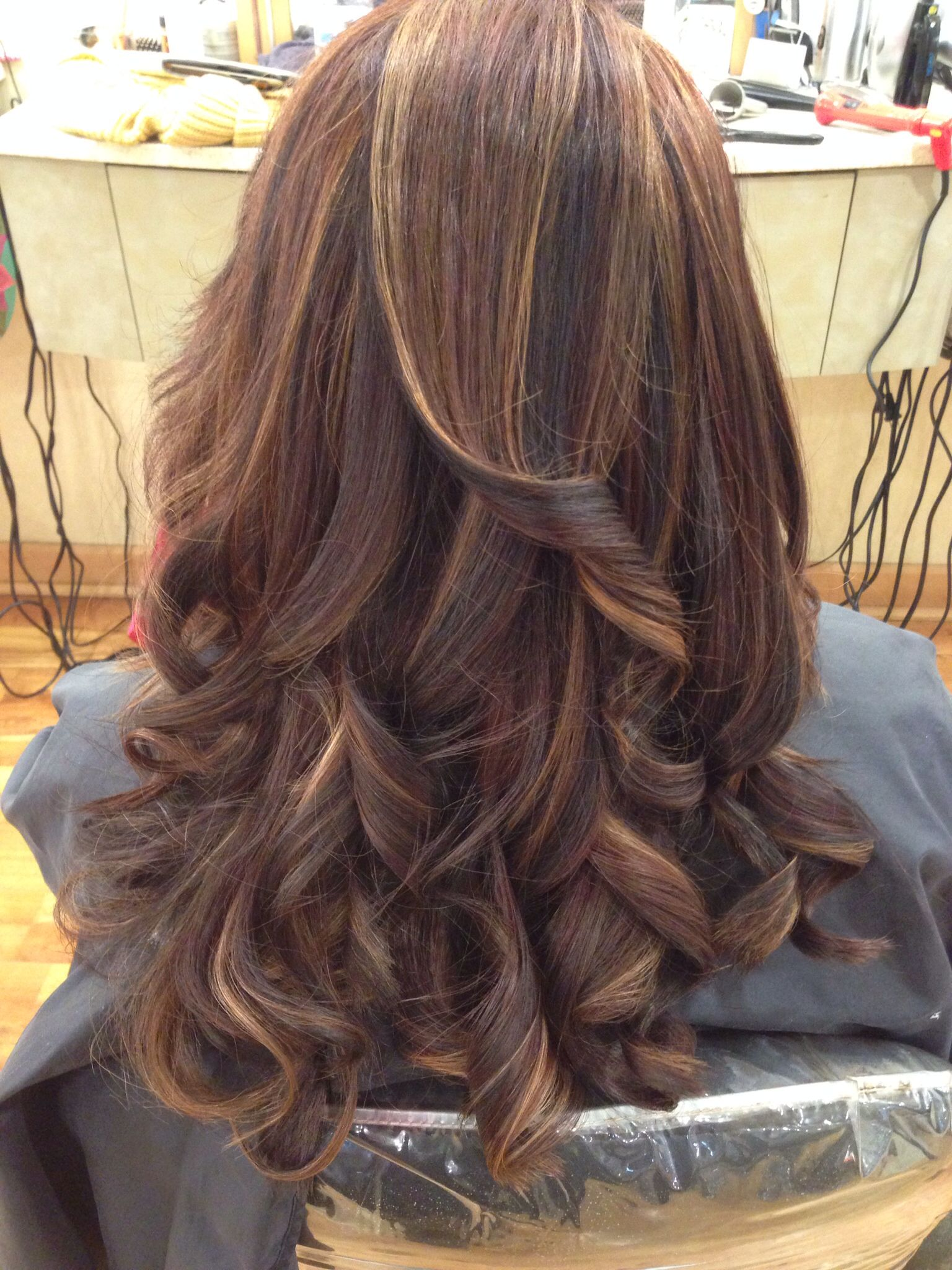 Full Head Foil Highlight And Lowlight After Hair Coloring