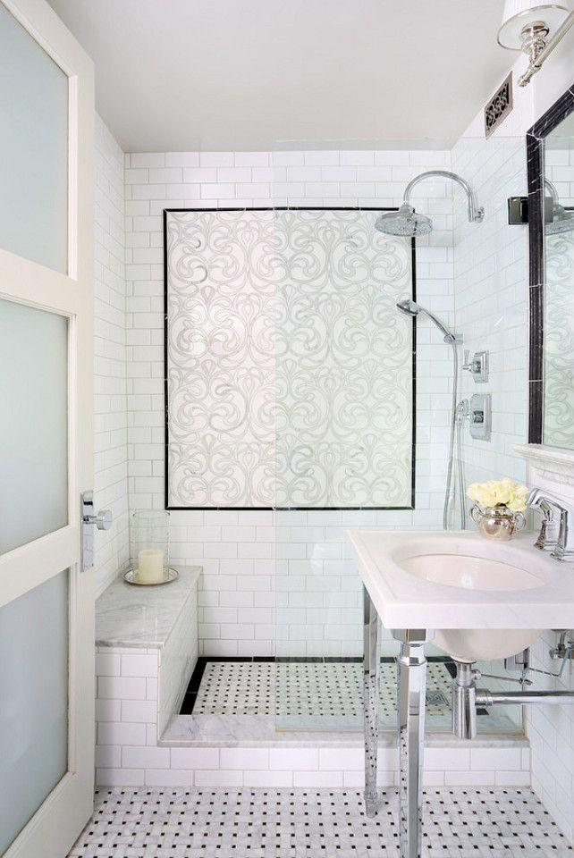 Walk In Shower Multiple Shower Heads Bench White Tiles Bathroom Remodel Designs Bathrooms Remodel Bathroom Design