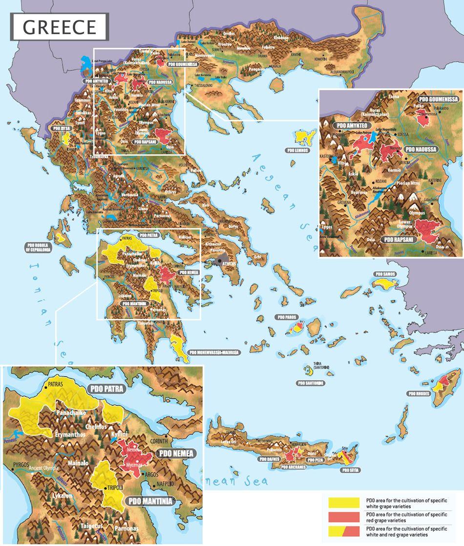 Greek Wine Maps Aegean Wine Selections