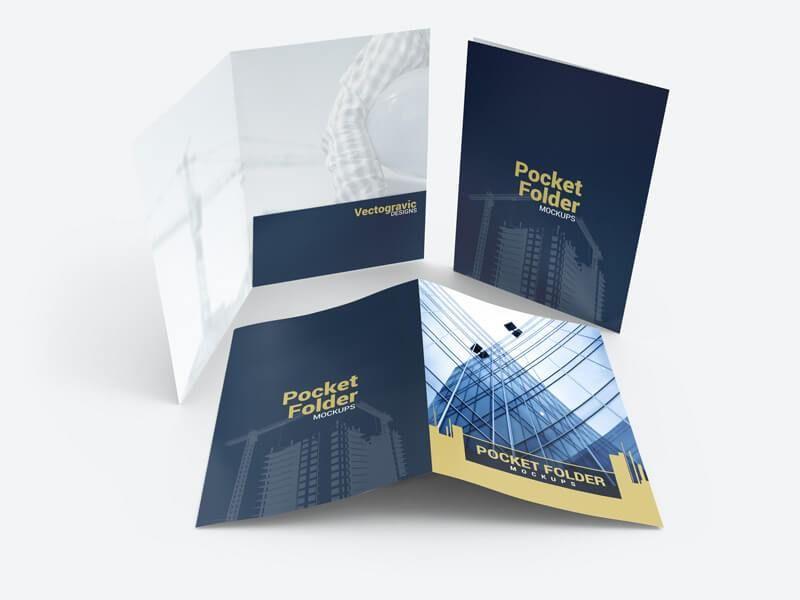Free Standard Pocket Folder Mockups On Vectogravic Design Folder Mockup Folder Mockup Psd Folder Psd