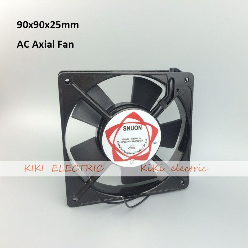2pcs Lot Long Life Ball Bearing Type Ac 220v Axial Cooling Fan 9cm