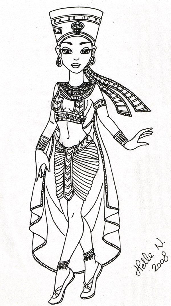 egyptian queen drawing - photo #44