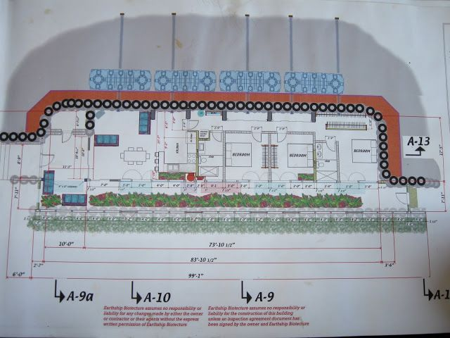Earthship floor plan from freevilleearthship.blogspot.com | Houses ...