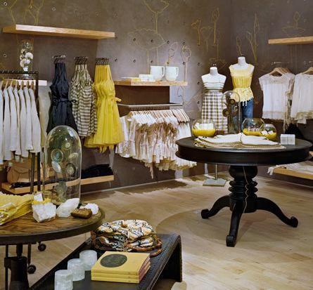 Anthropologie Interiores De Tienda Decoracion De La Boutique Diseno Minorista