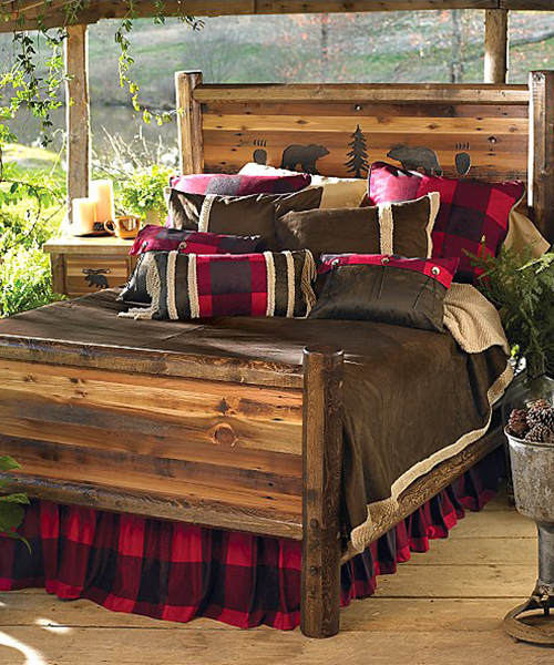 Rustic Wildlife Bed | Rustic & Log Home Bedroom Furniture