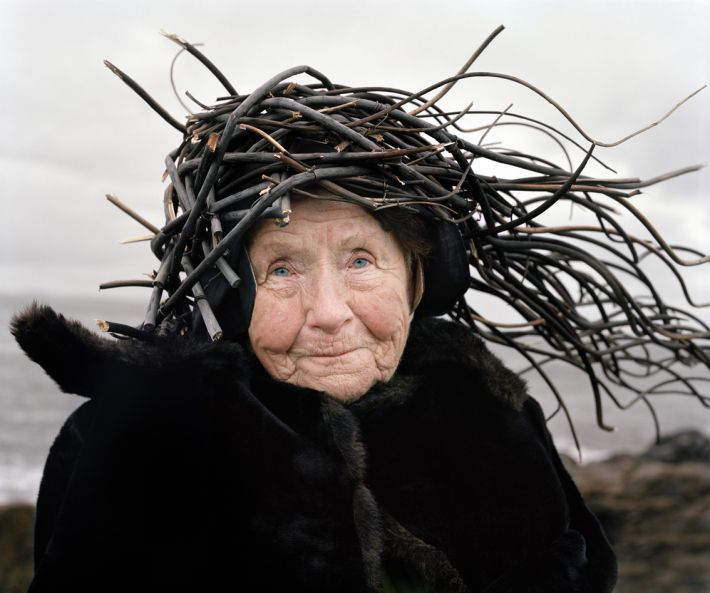 lovely Agnes and hat of black twigs