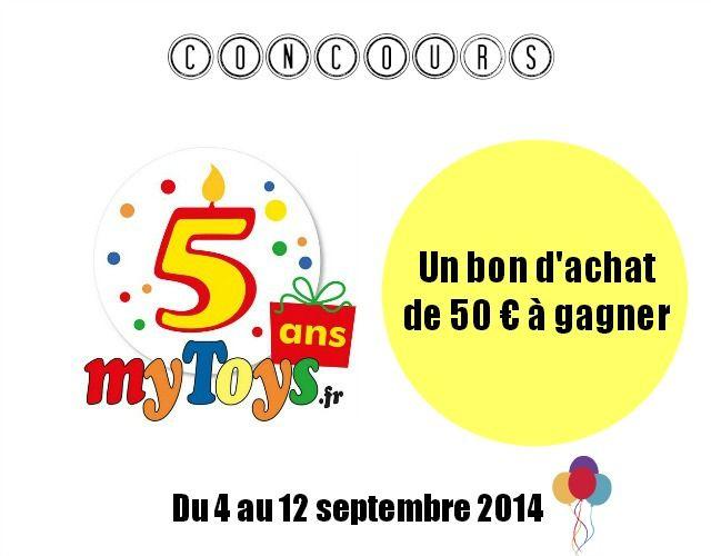 MyToys.fr fête ses 5 ans et vous offre 50 € {Concours