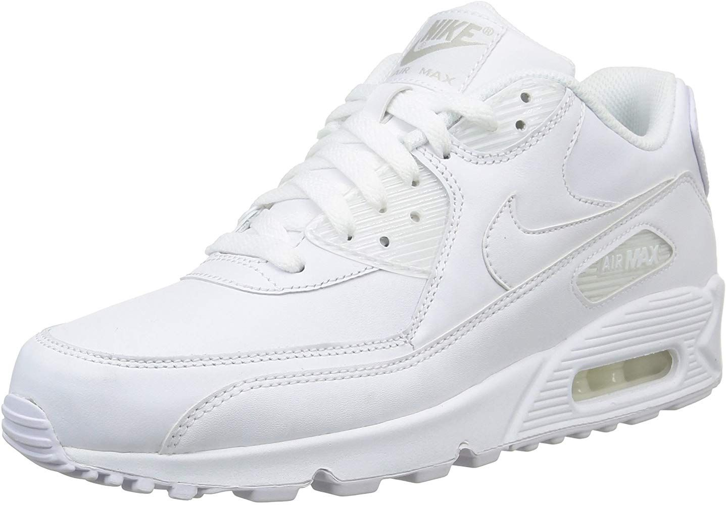 Nike Air Max 90 Leather Herren Sneakers Weiss White White 41 Eu Nike Schuhe Turnschuhe Nike Nike Manner