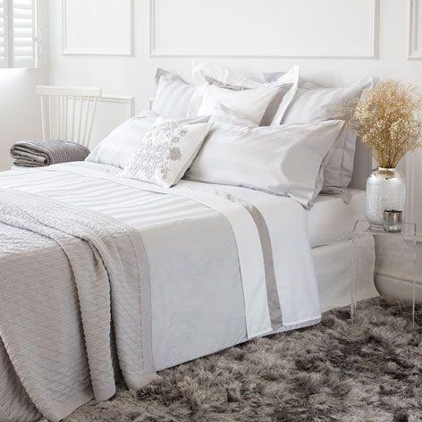 Biancheria da letto satin jacquard grigio biancheria da - Biancheria da letto bologna ...