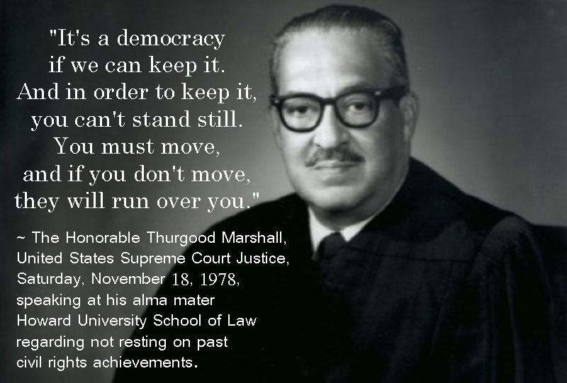 Thurgood Marshall Quotes Awesome Family Marshall Thurgood Supreme Court  Black History Heroes U.s. Inspiration Design