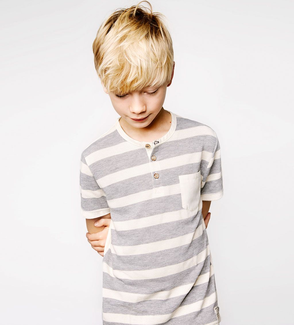 Striped t shirt with pocket view all t shirts boy 4 14 - Zara kids online espana ...