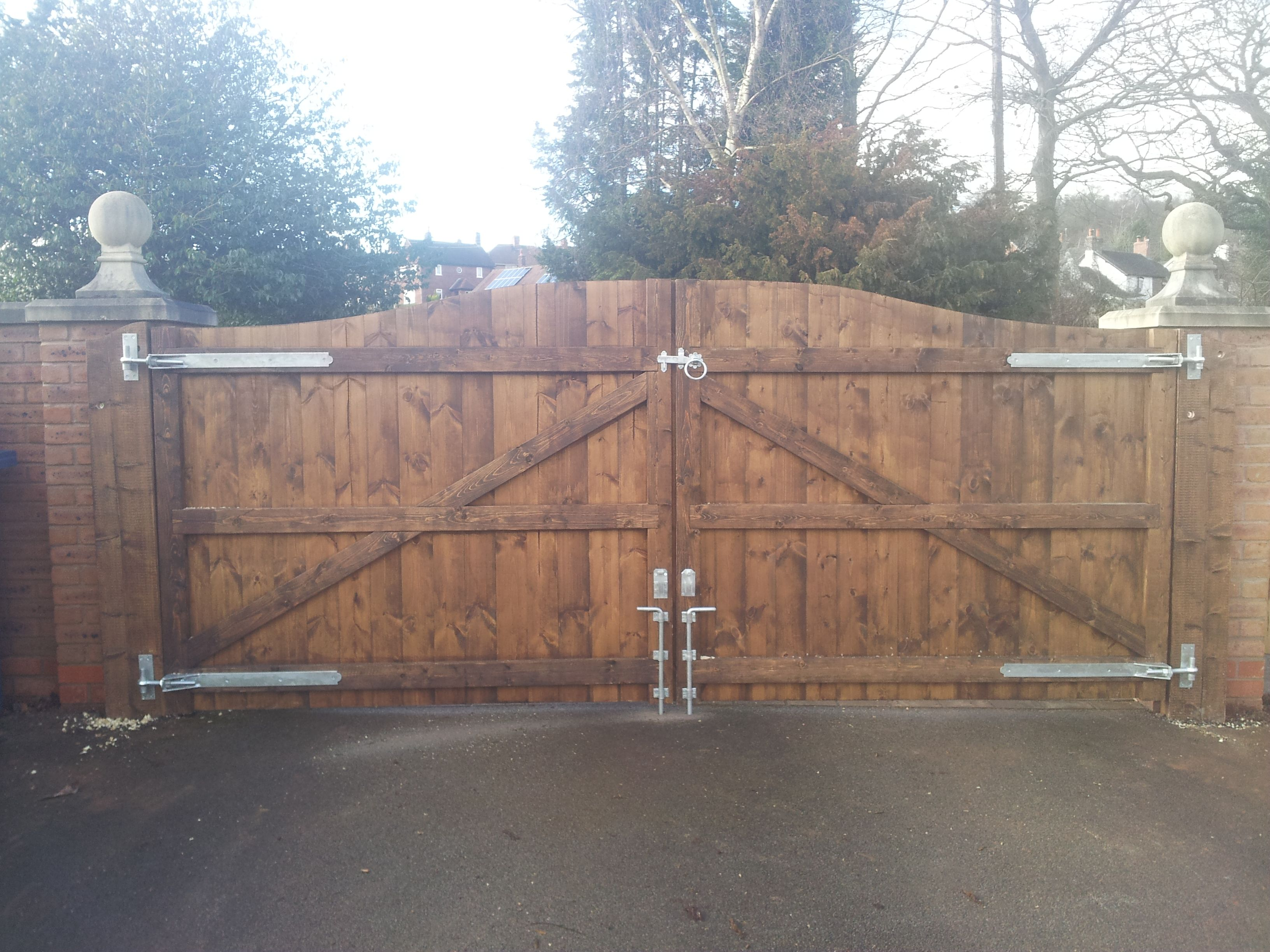 Wooden driveway gates treated 6ft high x 8ft wide
