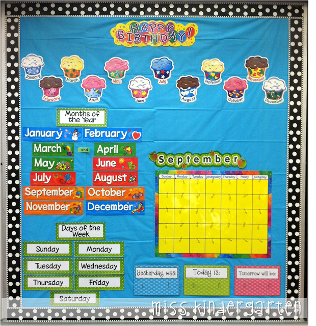 Kindergarten Calendar Time Routine : Busy routine calendar bulletin boards and