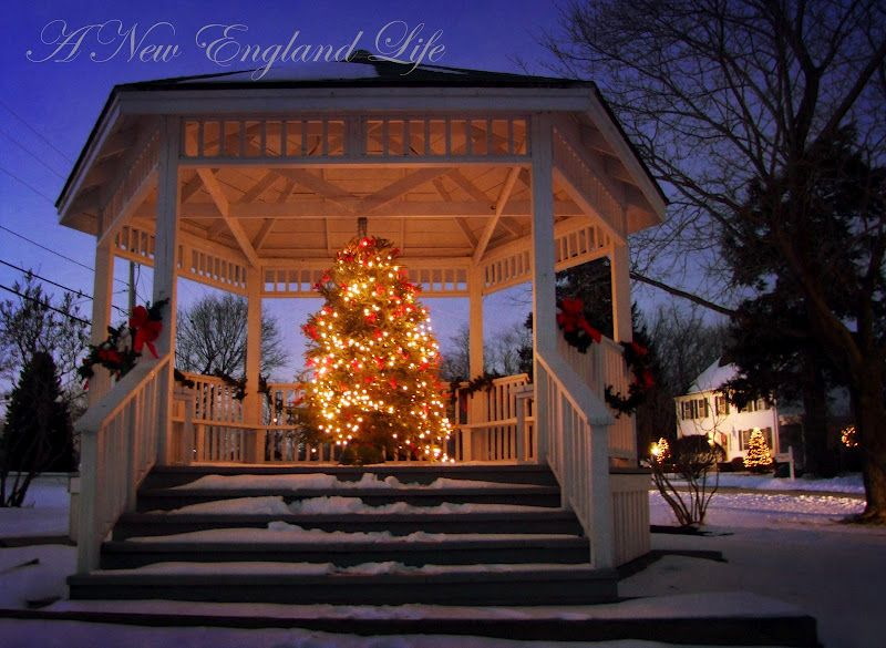 Christmas Tree In A Gazebo Gorgeous Christmas In England Beautiful Christmas New England