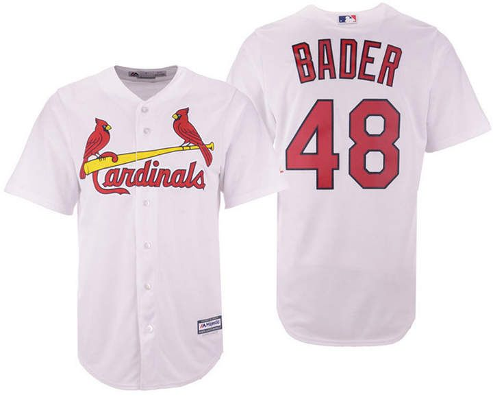 huge selection of 7d3b9 10a05 Majestic Men Harrison Bader St. Louis Cardinals Player Replica Cool Base  Jersey
