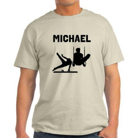 Cafepress Personalized Gymnastics Champ Light T-Shirt, Men's, Size: Medium, Beige