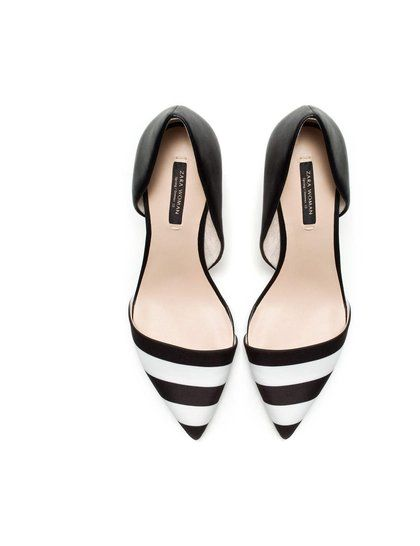 Zara Black & White Striped Heels | black & white stripes ...