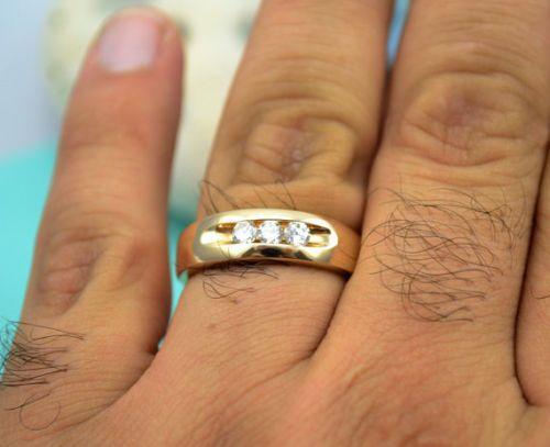 Superb Design Quality Ethnic 0 50ct Round Cut 14k Yellow Gold Men Wedding Ring Goldjewellery17