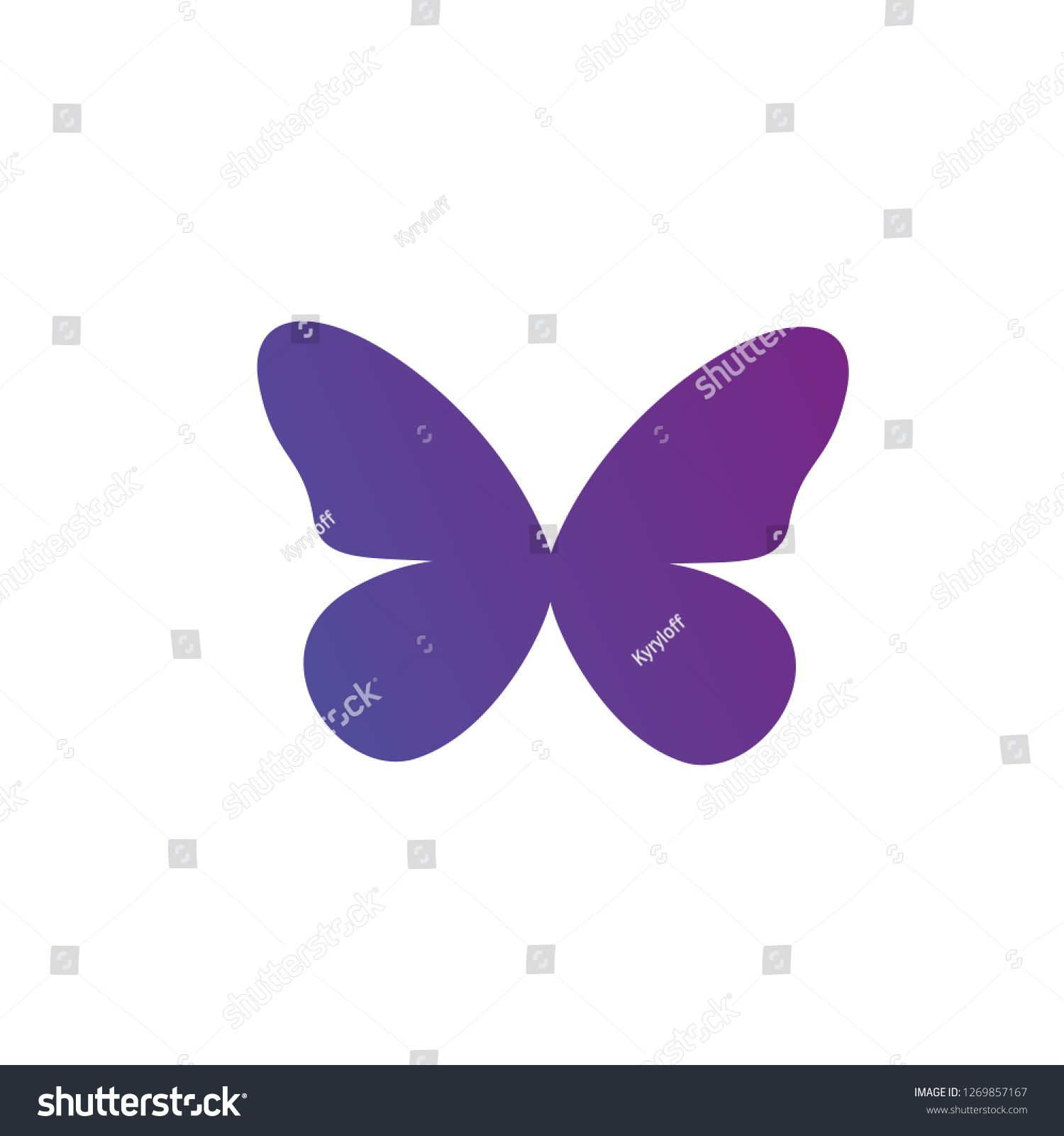 Purple Gradient Butterfly Logo Icon Vector Illustration Isolated On White Background Clean Design Logo Icon Ve Butterfly Logo Logo Icons Vector Illustration