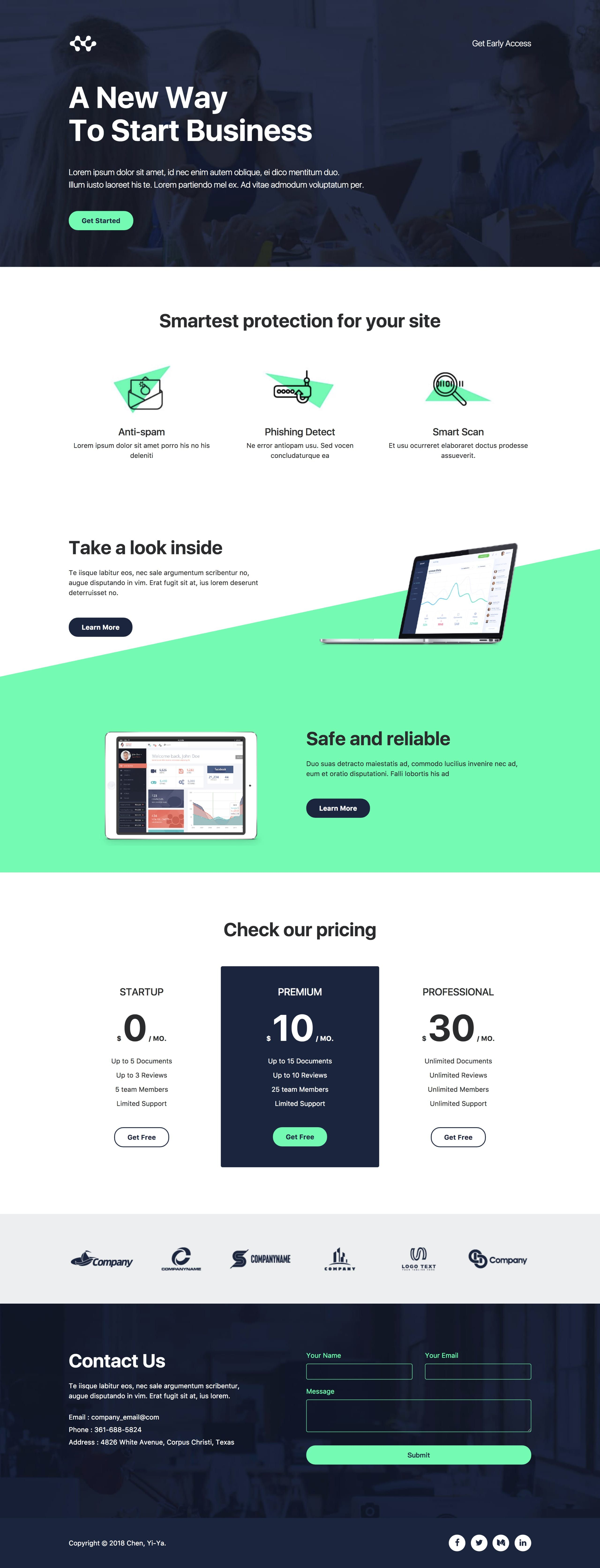 Pin On One Page Website Templates