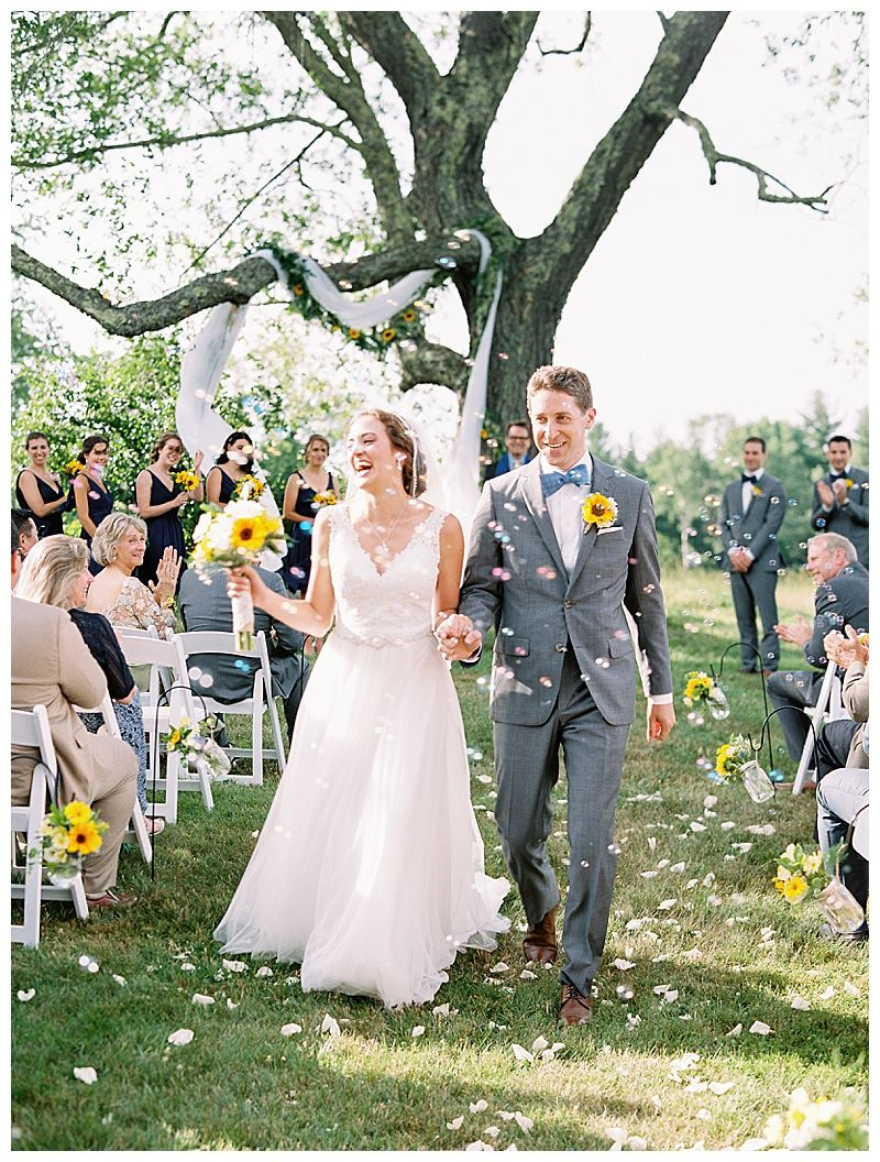 Rustic Summer Wedding In The Berkshires Love Inc Mag Romantic Wedding Photos Summer Wedding Wedding Recessional