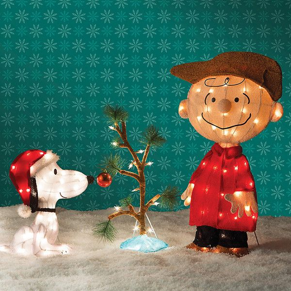 improvements charlie brown snoopy the lonely tree christmas decor 100 liked on polyvore featuring home home decor holiday decorations