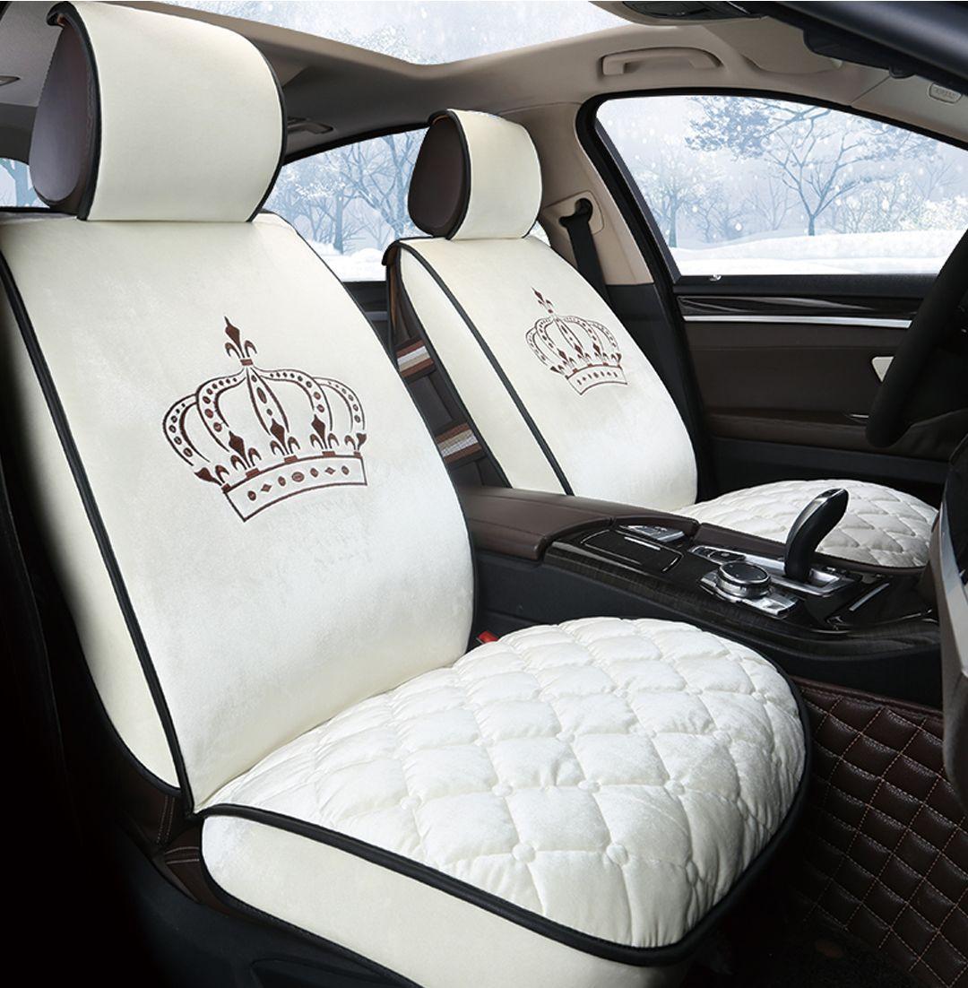 Uber Car Seat >> Noble Crown Luxurious Plush Universal Car Seat Cover Car