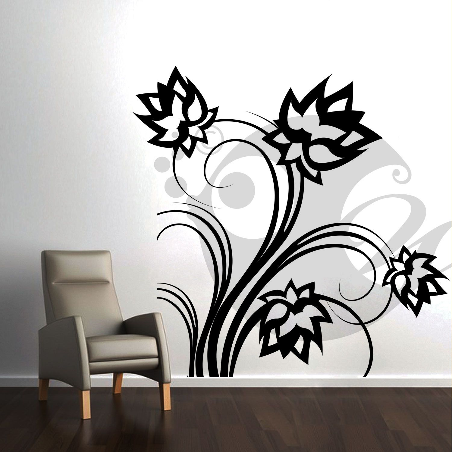 With this Lotus Flowers Wall Sticker Decal you can decorate your walls in one of the most modern and elegant ways