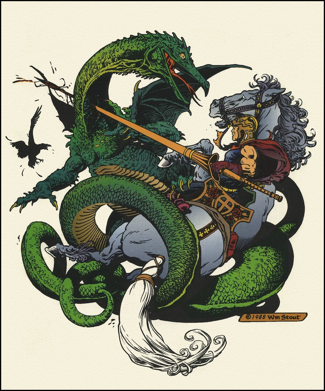 william stout st george and the dragon san giorgio pinterest dragons saints and sci fi. Black Bedroom Furniture Sets. Home Design Ideas