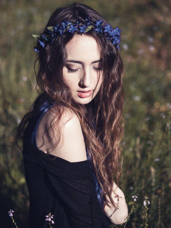 floral crown bridal flower crown wedding hair by serenitycrystal