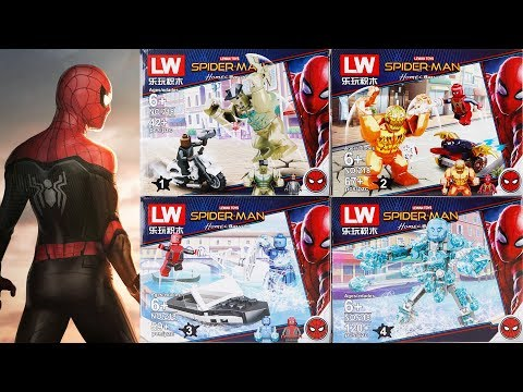 Lego Spider Man Far From Home Lewan Toys Lw218 Unofficial Lego Youtube Lego Spiderman Lego Marvel Super Heroes Spiderman