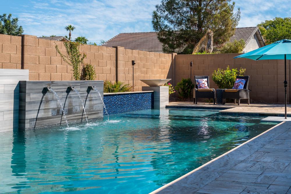 Geometric Swimming Pool Designs Presidential Pools Spas Patio Of Arizona Luxury Swimming Pools Swimming Pool Designs Pool Designs
