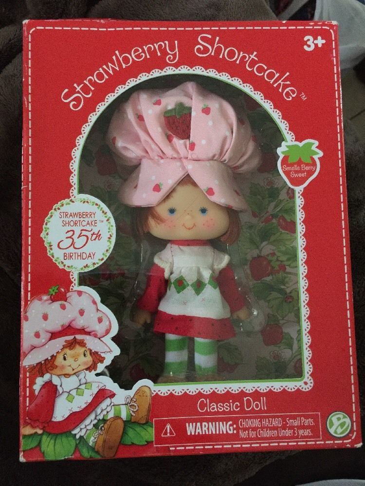 "Strawberry Shortcake Peach Blush Classic Doll 6/"" 35th Birthday Version Retro"