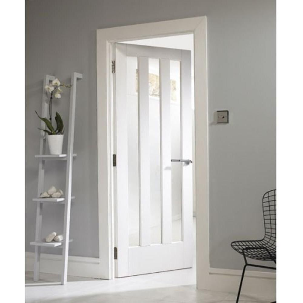 Internal White Primed Aston 3 Light Door with Clear Glass  sc 1 st  Pinterest & Internal White Primed Aston 3 Light Clear Glass Door | Internal ...