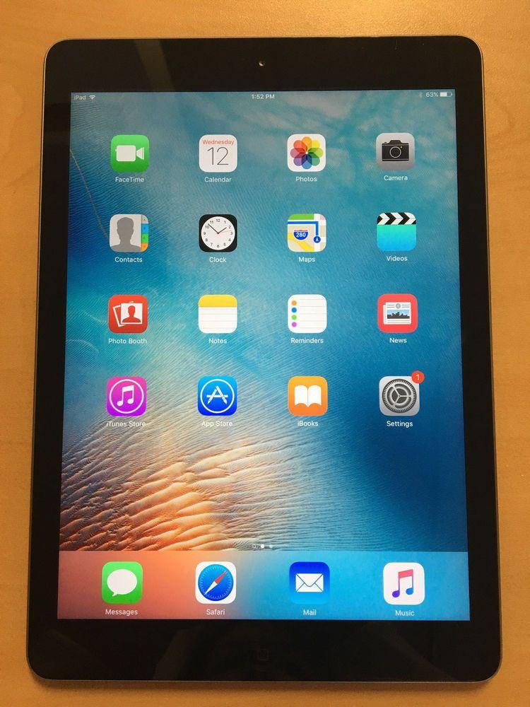 16GB Apple iPad Air 1st Gen 9.7in Wi-Fi Space Gray