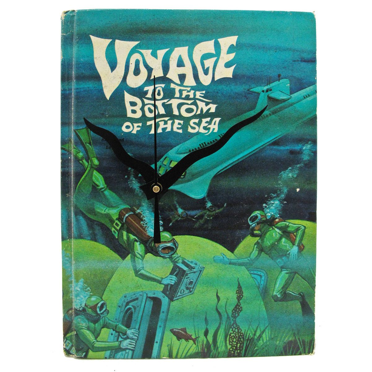 Voyage To The Bottom Of The Sea  by Vintage Book Clocks