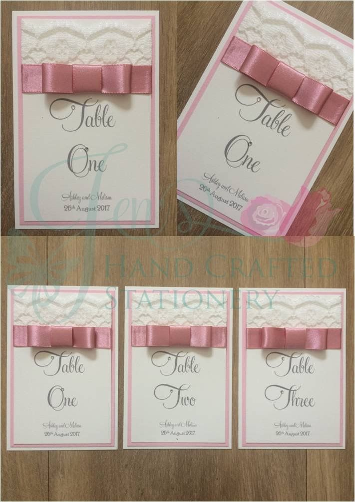 Hand Made Wedding stationery Save the