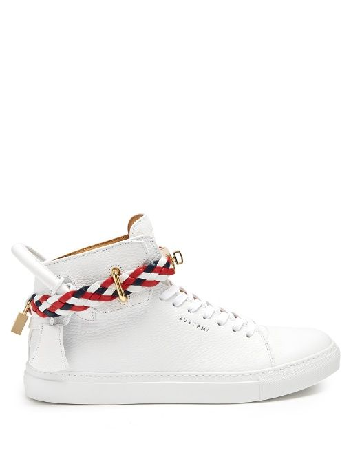 c2656e0c9c17c1 BUSCEMI 100Mm Weave High-Top Leather Trainers.  buscemi  shoes  sneakers
