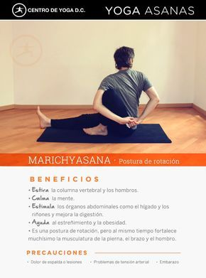 beneficios de la práctica de yoga · marichyasana  postura