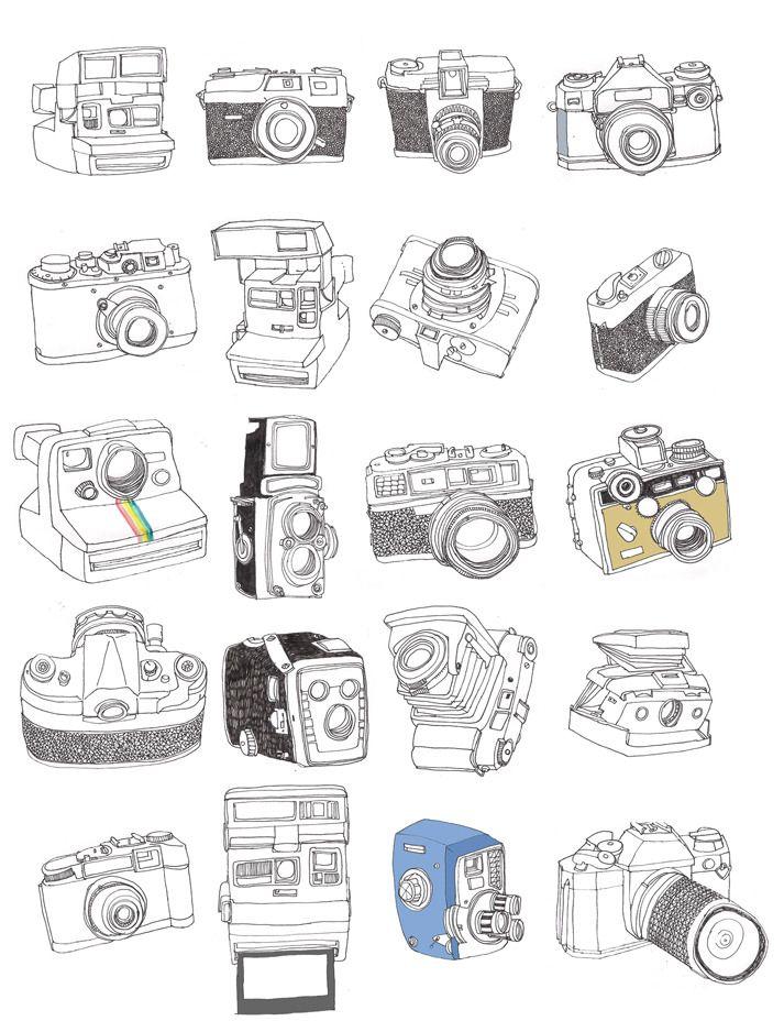 samuel vizor cameras illustrations pinterest dessin images et ligne claire. Black Bedroom Furniture Sets. Home Design Ideas