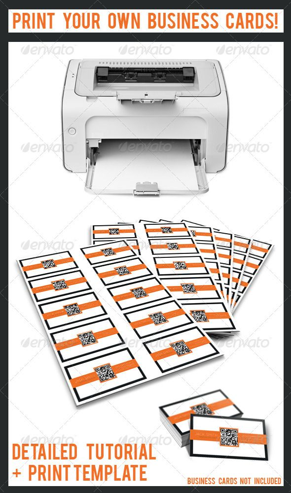 Print Your Own Business Cards | Business cards, Print templates and ...