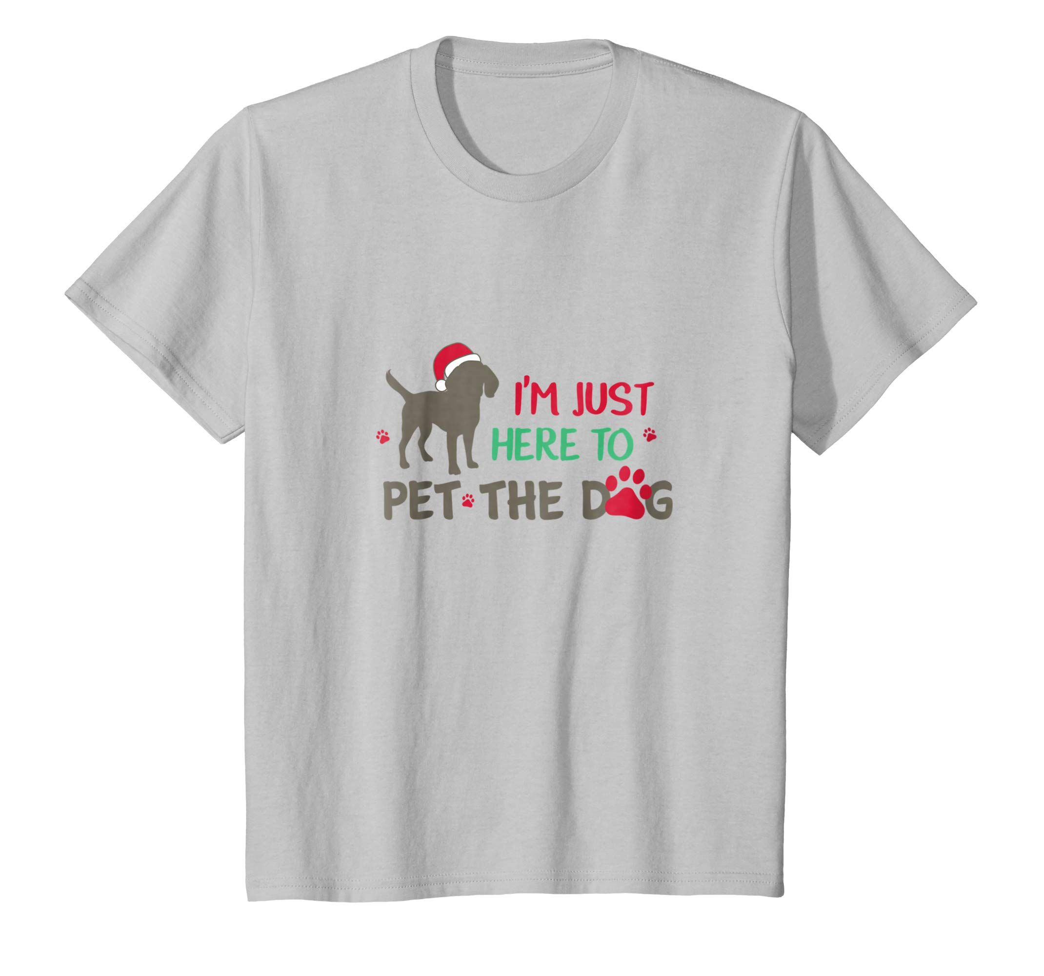 Amazon Com I M Just Here To Pet The Dog Funny Christmas T Shirt Clothing Funny Christmas Tshirts Christmas Tshirts Cat Tshirt