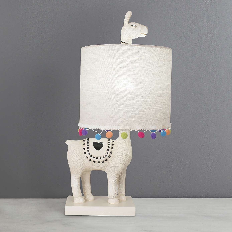 Lulu Resin Llama White Table Lamp Llama Decor Girls Room Decor Girls Lamp