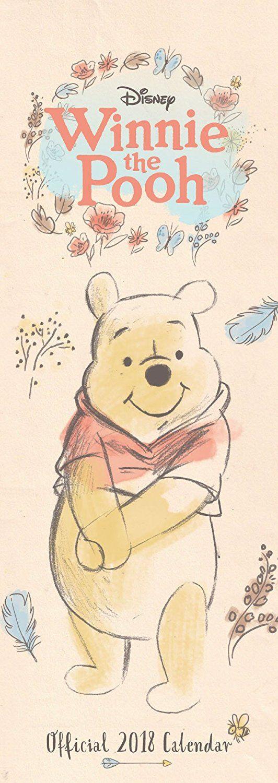 Winnie The Pooh Sketch Official Slim 2018 Calendar | All Things Pooh ...