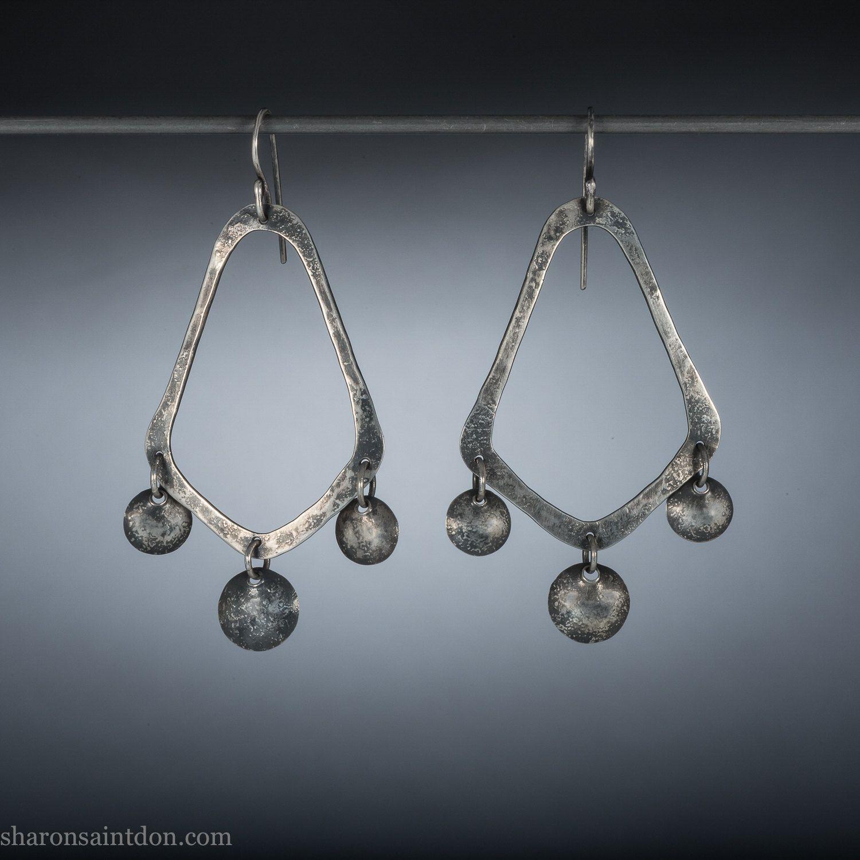 240 sterling silver chandelier earringslong dangling silver 240 sterling silver chandelier earringslong dangling silver earrings modern bridal earrings hand aloadofball Choice Image