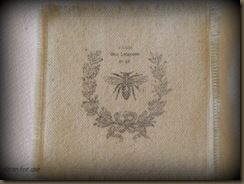 Fabric Coaster French Bee